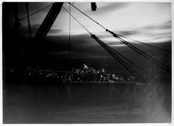 Lewis Wickes Hine (American, 1874-1940). New York from the Empire State Building at Night, 1931. Gelatin silver photograph, sheet: 14 x 19 1/2 in. Brooklyn Museum, Gift of Drs. Naomi and Walter Rosenblum, 1991.220.1. © artist or artist's estate