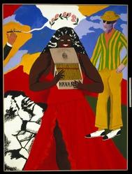 Robert Colescott (American, 1925-2009). Havana Corona, 1970. Acrylic on canvas, 78 1/2 x 59 in.  (199.4 x 149.9 cm). Brooklyn Museum, Gift of Brooke and Carolyn Alexander, 1991.270. © artist or artist's estate