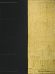 Gordon Hart (American, born 1940). Darklite, 1974. Oil and goldleaf on nova plywood, 48 x 36 in. (121.9 x 91.4 cm). Brooklyn Museum, Gift of Paul F. Walter, 1991.281. © artist or artist's estate