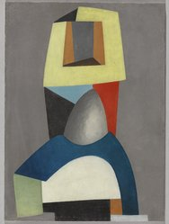 Jean Hélion (French, 1904-1987). Composition, 1939. Oil on masonite, 15 x 11 in.  (38.1 x 27.9 cm). Brooklyn Museum, Gift of Lucile E. Selz, 1991.283.2. © artist or artist's estate