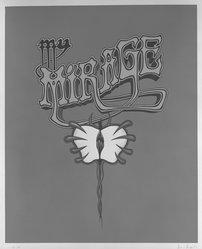 Jim Shaw (American, born 1952). My Mirage #3, 1989. Silkscreen on paper, 17 x 14 in. (43.2 x 35.6 cm). Brooklyn Museum, Gift of Hudson, 1991.288. © artist or artist's estate