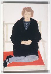 Alex Katz (American, born 1927). Ann, 1956. Oil on masonite, 36 x 24 in. Brooklyn Museum, Gift of the artist, 1991.42. © artist or artist's estate