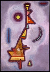 Wassily Kandinsky (Russian, 1866-1944). Stubborn (Hartnäckig), 1929. Oil on paperboard, 27 3/4 x 19 1/8in. (70.5 x 48.6cm). Brooklyn Museum, Bequest of William K. Jacobs, Jr., 1992.107.19. © artist or artist's estate