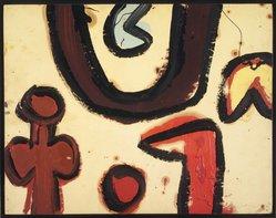 Alan Davie (British, born Scotland, 1920). Moon Bow #28. Oil on paper, 22 x 17 1/2 in. (55.9 x 44.5 cm). Brooklyn Museum, Bequest of William K. Jacobs, Jr., 1992.107.4. © artist or artist's estate