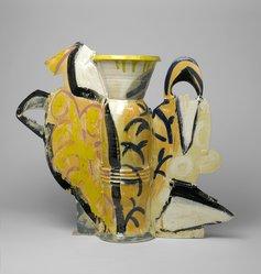 Betty Woodman (American, born 1930). Still Life Vase #10, 1990. Glazed earthenware, 32 1/2 x 39 3/4 x 10 1/2 in. (82.6 x 101 x 26.7 cm). Brooklyn Museum, Gift of Laurence Shopmaker in memory of Scott Burton , 1992.109. © artist or artist's estate