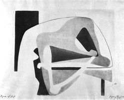 Seymour Fogel (American, 1911-1984). Figure at Rest, 1938. Lithograph, 16 x 19 3/4 in. (40.6 x 50.2 cm). Brooklyn Museum, Gift of Georgia and Michael de Havenon, 1992.117. © artist or artist's estate
