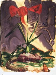 Alexis Rockman (American, born 1962). Squirrel, 1990. Watercolor monotype, 30 x 22 1/4 in. (76.2 x 56.5 cm). Brooklyn Museum, Gift of Rita Fraad in memory of her husband, Daniel J. Fraad, Jr., 1992.118.9. © artist or artist's estate