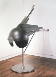 R.M. Fischer (American, born 1947). The Betsy, 1988-1989. Blackened steel, brass, stainless steel Brooklyn Museum, Gift of the artist, 1992.176. © artist or artist's estate
