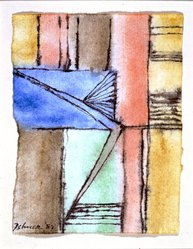 Dorothy Dehner (American, 1908-1994). Untitled, 1982. India ink and watercolor on paper, 5 x 4 in. (12.7 x 10.2 cm). Brooklyn Museum, Gift of Dr. and Mrs. Arthur E. Kahn, 1992.183.4. © artist or artist's estate