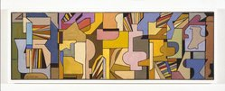 Hananiah Harari (American, 1912-2000). Jubilee, 1939. Oil on canvas, 10 x 30 in. (25.4 x 76.2 cm). Brooklyn Museum, Gift of Faye and Roland Lewis, 1992.210. © artist or artist's estate