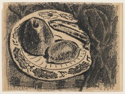 Milton Avery (American, 1885-1965). Fruit, n.d. Wax crayon on wove paper, Sheet: 9 x 12 1/16 in. (22.9 x 30.6 cm). Brooklyn Museum, Bequest of Ivor Green and Augusta Green, 1992.273.11. © artist or artist's estate