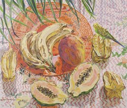 Janet Fish. Tropical Still Life, 1992. Screenprint on Arches 88 paper, Sheet: 72 1/8 x 46 5/16 in. (183.2 x 117.7 cm). Brooklyn Museum, Gift of John Szoke Gallery, 1993.10.1. © artist or artist's estate