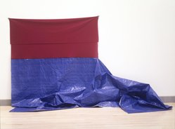 James Hyde (born U.S.A., 1958). Float, 1993. Polyester knit fabric, plastic tarpaulin and tape, Storage (Stored rolled): 12 x 91 x 12 in. (30.5 x 231.1 x 30.5 cm). Brooklyn Museum, Gift of Arlene and Barry Hockfield, 1993.159. © artist or artist's estate
