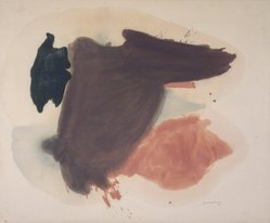 Helen Frankenthaler (American, 1928-2011). Persia, 1963. Oil on canvas, 45 x 54in. (114.3 x 137.2cm). Brooklyn Museum, Gift of Alexander Liberman, 1993.214.1. © artist or artist's estate