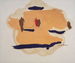 Helen Frankenthaler (American, 1928-2011). Untitled, 1963. Oil on paper, 14 x 17in. (35.6 x 43.2cm). Brooklyn Museum, Gift of Alexander Liberman, 1993.214.2. © artist or artist's estate