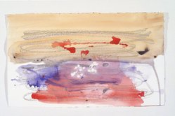 Helen Frankenthaler (American, 1928-2011). Covent Garden Study, 1984. Acrylic and crayon on paper, 17 9/16 x 29in. (44.6 x 73.7cm). Brooklyn Museum, Gift of Alexander Liberman, 1993.214.5. © artist or artist's estate