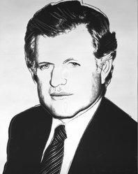 Andy Warhol (American, 1928-1987). Edward Kennedy, 1980. Screenprint with diamond dust on board, 40 x 32 in. (101.6 x 81.3cm). Brooklyn Museum, Gift of J.M.C., 1993.219. © artist or artist's estate