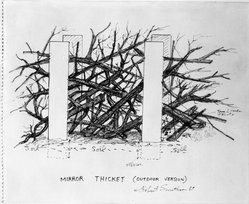 Robert Smithson (American, 1938-1973). Mirror Thicket (Outdoor Version), 1969. Colored pencil and ink on paper, 14 x 17 in. (35.6 x 43.2 cm). Brooklyn Museum, Gift of Sarah-Ann and Werner H. Kramarsky, 1993.41. © artist or artist's estate
