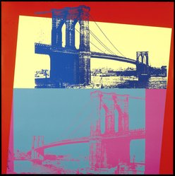 Andy Warhol (American, 1928-1987). Brooklyn Bridge, 1983. Screenprint on board, 39 1/4 x 39 1/4 in. (99.7 x 99.7cm). Brooklyn Museum, Gift of The Fund for the Borough of Brooklyn, 1993.9. © artist or artist's estate