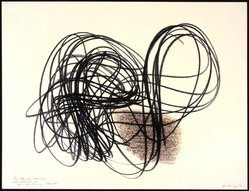 Hans Hartung (French, born Germany, 1904-1989). Untitled, 1958. Monotype, 19 3/4 x 25 1/2 in. Brooklyn Museum, Gift of Alexander Liberman, 1994.215.2. © artist or artist's estate