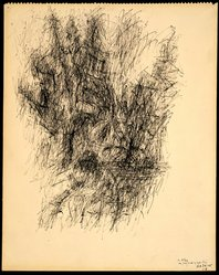 Jean Bazaine. Untitled, 1958. Ink on paper, 16 x 13 in. (40.6 x 33 cm). Brooklyn Museum, Gift of Alexander Liberman, 1994.219. © artist or artist's estate