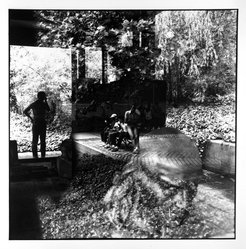 Bruce Cratsley (American, 1944-1998). Garden Reflections, Brooklyn Museum, 1985. Gelatin silver photograph, image/sheet: 8 7/8 x 8 7/8 in. (22.5 x 22.5 cm). Brooklyn Museum, Gift of Billy Leight, 1995.129. © artist or artist's estate
