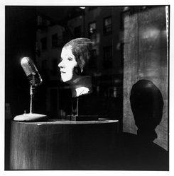 Bruce Cratsley (American, 1944-1998). Radio Days (Spring Street, Soho, N.Y.C.), 1991. Selenium-toned gelatin silver photograph, image: 9 1/2 x 9 1/4 in. (24.1 x 23.5 cm). Brooklyn Museum, Gift of Jonathan L. Fagin, 1995.207.12. © artist or artist's estate
