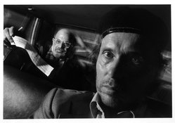 Ryan Weideman. Self Portrait with Passenger, Allen Ginsberg, 1991. Gelatin silver photograph, sheet: 11 x 14 in. Brooklyn Museum, Purchased with funds given by the Horace W. Goldsmith Foundation, Harry Kahn, Mrs. Carl L. Selden, and an anonymous donor, 1995.43. © artist or artist's estate