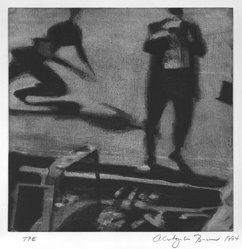 Christopher Brown (American, born 1951). Runner, 1994. Color soft ground etching on paper, Image: 10 x 10 in. (25.4 x 25.4 cm). Brooklyn Museum, Alfred T. White Fund, 1995.66.2. © artist or artist's estate