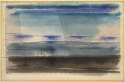 Lyonel Feininger (American, 1871-1956). Clouds Over the Baltic, 1947. Watercolor on wove paper, Sheet: 12 3/8 x 18 7/8 in. (31.5 x 48 cm). Brooklyn Museum, Bequest of Mrs. Carl L. Selden, 1996.150.11. © artist or artist's estate