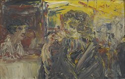 Jack B. Yeats. Girl Eating Ice Cream at Woolworth's. Oil on panel, 9 x 14 1/4 in. Brooklyn Museum, Bequest of Mrs. Carl L. Selden, 1996.150.28. © artist or artist's estate