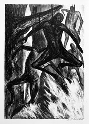 Jose Clemente Orozco (Mexican, 1883-1949). The Hanged Men (Negros), 1930. Lithograph on cream wove paper, image: 12 3/4 x 8 15/16 in. (32.3 x 22.8 cm). Brooklyn Museum, Emily Winthrop Miles Fund, 1996.152.67. © artist or artist's estate