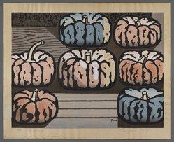 Tsuagaki (Japanese). Pumpkins, 1955. Woodcut, 13 1/2 x 17 1/2 in. (34.3 x 44.5cm). Brooklyn Museum, Bequest of Mrs. Carl L. Selden, 1996.157.19. © artist or artist's estate