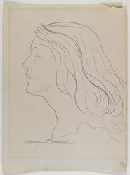 William Zorach (American, born Lithuania, 1887-1966). Profile of a Woman's Head, n.d. Graphite on cream, medium-weight, smooth wove paper, Sheet: 11 7/8 x 8 7/8 in. (30.2 x 22.5 cm). Brooklyn Museum, Gift from the collection of Estelle and Jay Sam Unger, 1996.161.3. © The Zorach Collection, LLC
