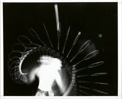 Harold Edgerton (American, 1909-1995). Tennis Serve (Multiflash), 1949. Gelatin silver photograph, image: 7 3/4 x 10 1/2 in. (19.7 x 26.7 cm). Brooklyn Museum, Gift of The Harold and Esther Edgerton Family Foundation, 1996.166.21. © artist or artist's estate