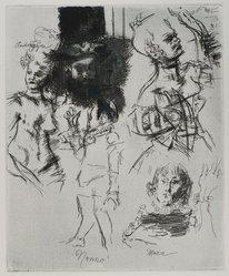 Jack Levine (American, 1915-2010). Volpone III, 1965. Etching, Image: 9 3/4 x 8 in. (24.8 x 20.3 cm). Brooklyn Museum, Gift of Peter R. Blum, 1996.223.18. © artist or artist's estate