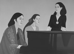 Alex Katz (American, born 1927). Song, 1980-1981. Lithograph in 17 colors, 33 x 43 13/16 in. (83.8 x 111.3 cm). Brooklyn Museum, Gift of the artist, 1996.97.10. © artist or artist's estate