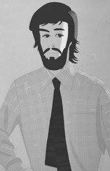 Alex Katz (American, born 1927). Plaid Shirt in Pink II (gray), 1981. Silkscreen, 46 15/16 x 30 5/8 in. (119.2 x 77.7 cm). Brooklyn Museum, Gift of the artist, 1996.97.12. © artist or artist's estate