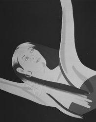 Alex Katz (American, born 1927). Night I: William Dunas Dance I, 1983. Silkscreen, 25 x 31 3/16 in. (63.5 x 79.3 cm). Brooklyn Museum, Gift of the artist, 1996.97.13. © artist or artist's estate