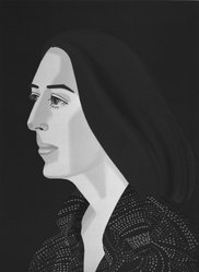 Alex Katz (American, born 1927). Ada Four Times, 1979-1980. Screenprint and lithograph in 10 colors, 30 1/16 x 22 15/16 in. (76.4 x 56.8 cm). Brooklyn Museum, Gift of the artist, 1996.97.1. © artist or artist's estate