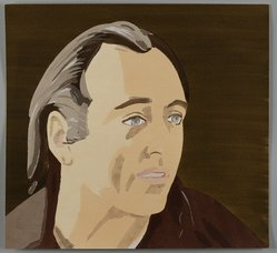 Alex Katz (American, born 1927). Al Held, 1976. Pochoir (stencil) in 29 colors, 15 3/8 x 16 1/2 in. (39.0 x 41.9 cm). Brooklyn Museum, Gift of the artist, 1996.97.33. © artist or artist's estate