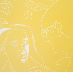 Alex Katz (American, born 1927). A Tremor in the Morning: Ada, Dino, 1986. Woodcut in color, Sheet: 20 1/4 x 19 3/4 in. (51.4 x 50.2 cm). Brooklyn Museum, Gift of the artist, 1996.97.42. © artist or artist's estate