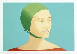 Alex Katz (American, born 1927). The Green Cap, 1985. Woodcut on Tosa Kozo paper, 17 3/8 x 24 3/16 in. (44.3 x 61.7 cm). Brooklyn Museum, Gift of the artist, 1996.97.46. © artist or artist's estate