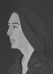 Alex Katz (American, born 1927). Ada Four Times, 1979-1980. Screenprint and lithograph in 10 colors, 30 1/16 x 22 15/16 in. (76.4 x 56.8 cm). Brooklyn Museum, Gift of the artist, 1996.97.4. © artist or artist's estate