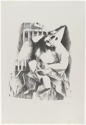 Ernest Crichlow (American, 1914-2005). Lovers, 1938. Lithograph on white wove paper, Sheet: 22 1/4 x 15 3/16 in. (56.5 x 38.6 cm). Brooklyn Museum, Gift of Reba and Dave Williams, 1996.99. © artist or artist's estate