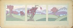 Joseph Lomoff (American, 1889-1956). Untitled, early-mid 20th century. Gouache on board, image: 5 9/16 x 16 1/8 in. (14.2 x 41.0 cm). Brooklyn Museum, Gift of Myra Silver, 1997.122.2. © artist or artist's estate