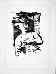 Jack Levine (American, 1915-2010). Helene Fourment, 1965. Lithograph on Arches paper, Plate: 15 3/4 x 11 1/2 in. (40 x 29.2 cm). Brooklyn Museum, Gift of Peter Blum, 1997.194.14. © artist or artist's estate