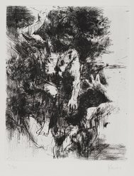 Jack Levine (American, 1915-2010). Cain and Abel, 1964. Etching and drypoint on BFK Rives paper, Plate: 9 3/4 x 7 3/4 in. (24.8 x 19.7 cm). Brooklyn Museum, Gift of Peter Blum, 1997.194.6. © artist or artist's estate