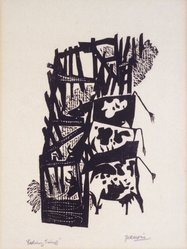 Antonio Frasconi (American, born Argentina, 1919-2013). Feeding Time, mid 20th century. Woodcut on cream wove paper, Image: 11 7/16 x 9 in. (29.1 x 22.8 cm). Brooklyn Museum, Gift of Judith Rappaport, 1997.45. © artist or artist's estate