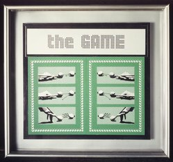 Laura Grisi. The Game, 1990-1991. Silkscreen on forex and aluminum, 12 x 12 1/2 in.  (30.5 x 31.8 cm). Brooklyn Museum, Gift of Estelle Schwartz, 1998.103. © Laura Grisi
